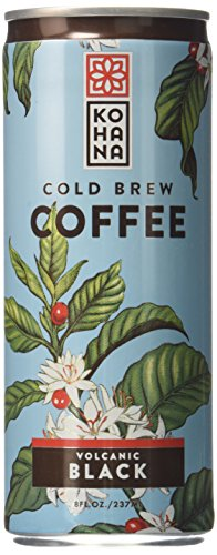 Kohana Coffee Cold Brew Coffee, Volcanic Black, 8 Ounce (Pack of 12)
