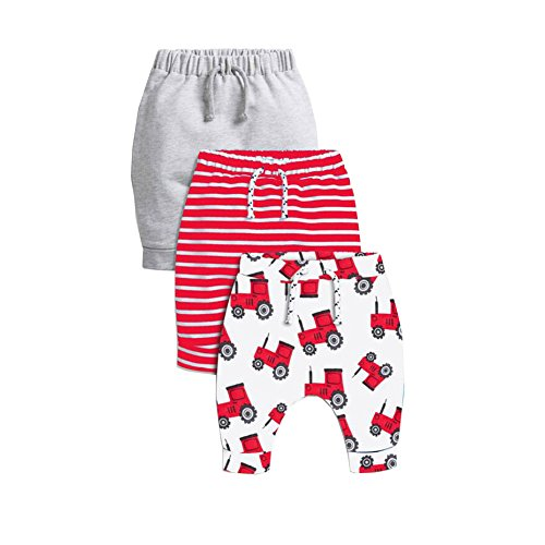 Cute On 3 Pack Unisex Kids Toddler Harem Pants Cotton Elastic Trousers