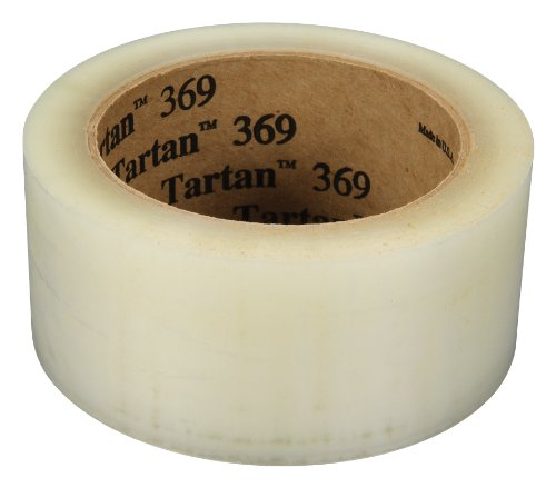 Tartan Box Sealing Tape 369 Clear, 48 mm x 100 m, Conveniently Packaged (Pack of 6)