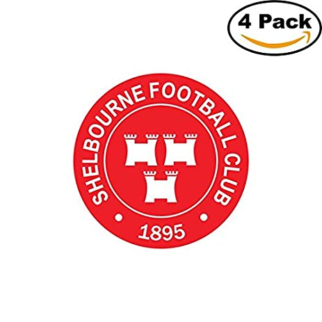 Fc shelbourne dublin ireland soccer football fc decal logo 4 stickers 4x4