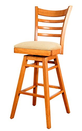 Beechwood Mountain BSD-5BSW-C Solid Beech Wood Swivel Bar Stool in Cherry for Kitchen and dining