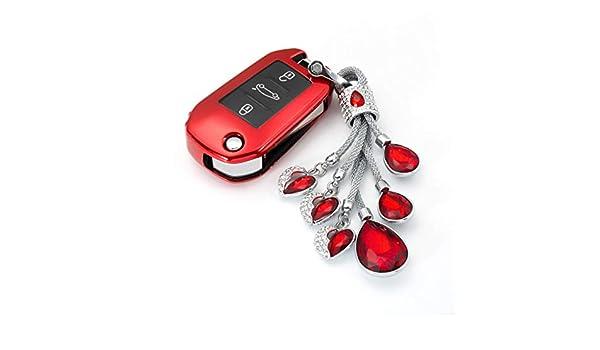 XDXFK Cubierta de la Llave del Coche Soft TPU Car Key Case ...