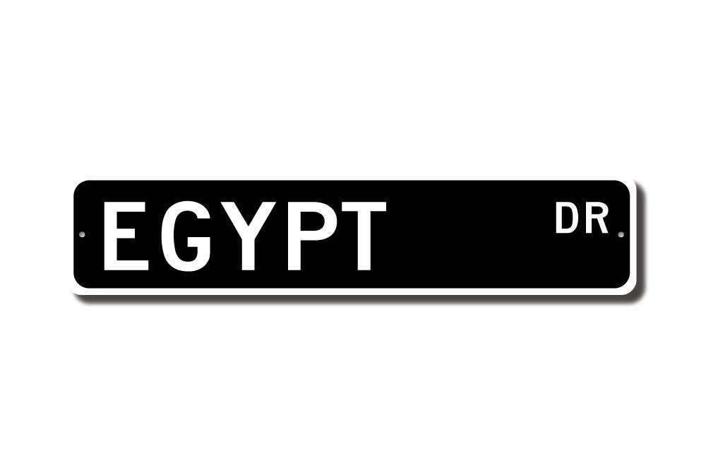 Egypt Sign Egypt Wall Decor Egypt Gift Egypt Souvenir Sign Egypt Souvenir Egypt Keepsake Egypt Street Sign Metal Wall Art Christmas Funny Gifts for Women