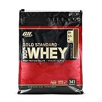 Polvo de proteína de suero de leche 100% estándar de Optimum Nutrition, chocolate con leche extremo, 10 libras