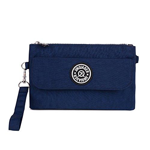 Outreo Bolso de Mano Mujer Bolso Bandolera Moda Casual Ligero Bolsas de Impermeable Bolsas de Deporte para Escuela Sport Bag Pequeña Azul 1