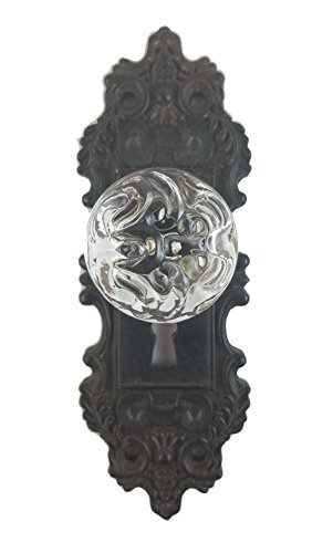 Decorative Pewter Wall Hook, Vintage Door Knob Style (Brown/Black), 1 -