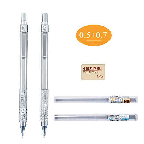Mechanical Pencils, Jimmidda 0.5 and 0.7 Mechanical Pencils with Refills for Writing, Drawing, Signature. by Jimmidda