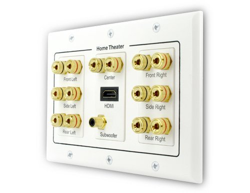 Sewell Direct SW-29609 7 Speaker, 1 Subwoofer, 1 HDMI Wall Plate, 3-Gang