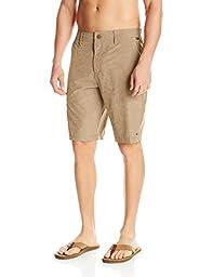 O\'Neill Men\'s Loaded Hybrid Short, Bark, 40