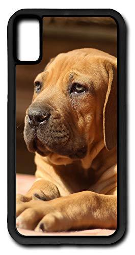 iPhone X Case Ballotade Boerboel Peanut Bulldog Puppy Customizable by TYD Designs in Black Rubber
