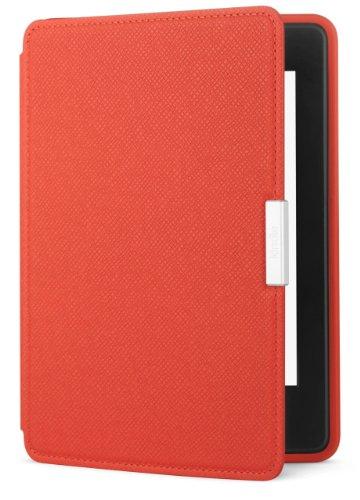 Amazon Kindle Paperwhite Lederhülle, Korallenrot - geeignet für alle Kindle Paperwhite-Generationen