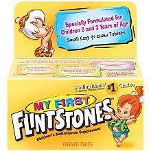 Mes Premières vitamines Pierrafeu à croquer pour les âges 2 à 3 ans, 100-Count Bottle