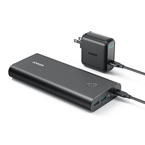 Anker PowerCore+ 26800 PD with 30W Power Delivery Charger, Portable Charger Bundle for MacBook Air / iPad Pro 2018, iPhone XS Max / X / 8, Nexus 5X / 6P, and USB Type-C Laptops with Power Delivery ()