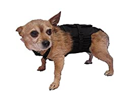 Dog Diaper Wrap XSMALL BLACK