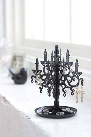 Sunline Black Metal Chandelier Tree Stand for Jewelry and...