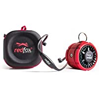Redfox Edge IPX4 w case (Red) + IPX7 Rover Bluetooth Speaker w Bike Mount (Red) Bundle