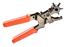 SE 7924LP Heavy-Duty Leather Hole Punch Tool, 2.0-4.5 mm