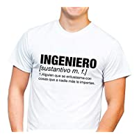 1WEN! Playera Ingeniero Hombre, color blanco