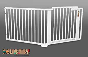 ONE4all 1+1w – Barrera de seguridad para puertas y escaleras, sistema modular y flexible (BLANCO)
