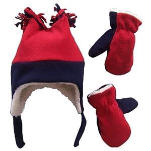 N'Ice Caps Little Boys and Baby Sherpa Lined Fleece Hat Mitten Winter Set