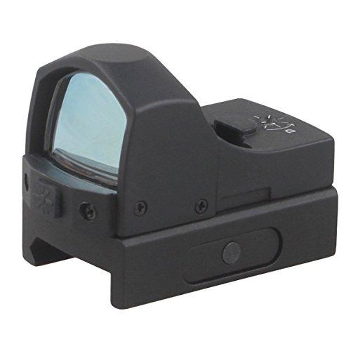 Vector Optics Sphinx 1x22x25mm Tactical Reflex Mini Red, Green Dot Scope Sight for GSG, .45, SKS, 12GA, .22, Ruger mark 3 22/45, SW 686, Ruger 10/22, Ruger SR45, S&W SW22 Pistol (.22 LR) (Green Dot)