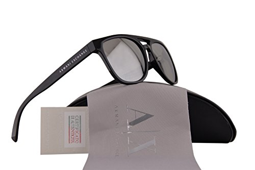 Armani Exchange AX4032S Sunglasses Black w/Light Grey Mirror Silver Lens 81586G AX 4032S For - Sunglasses Armani Cheap Exchange