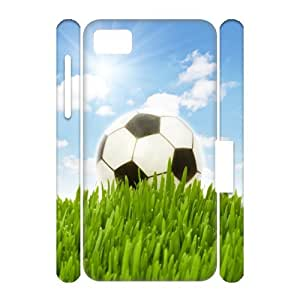 We Love Soccer-Custom Beautiful Pretty Football On Lawn In Your BlackBerry Z10 Cool BlackBerry 3D Case