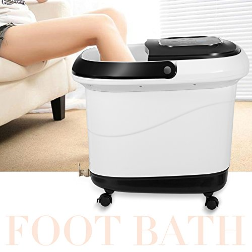 Natsukage All in One Luxurious Foot Spa Bath Massager Motorized Rolling Massage Heat Wave Digital Temperature Control LED Display Fast US Shipping (Type 3) by Natsukage (Image #5)