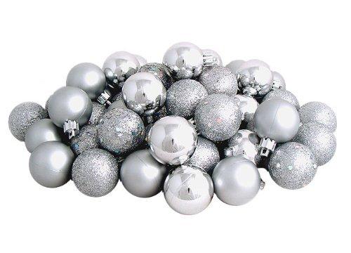 Sea Star Silver Christmas Tree Ball Ornaments Mini Shatterproof Satin Shiny  and Glitter Finish Bulb Christmas - Amazon.com: Sea Star Silver Christmas Tree Ball Ornaments Mini