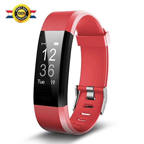 Fitness Watch,Fitness Tracker,Luluking YG3 Plus Activity Tracker With Heart Rate Monitor,Step Counter,GPS Tracker,Waterproof Smart Wristband for Android and Ios (red)
