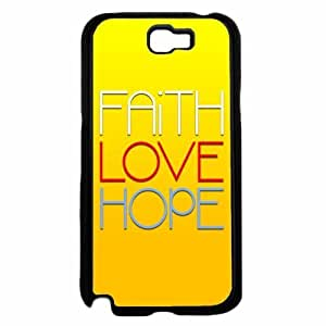 Faith Love Hope- TPU RUBBER SILICONE Phone Case Back Cover Samsung Galaxy Note II 2 N7100 hjbrhga1544