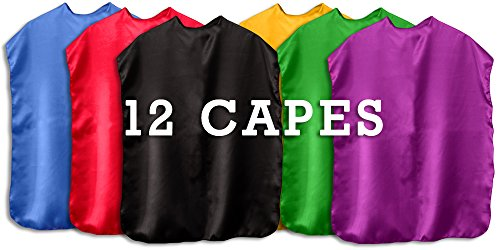 Superhero Capes Children Set of 12 (Assorted) -