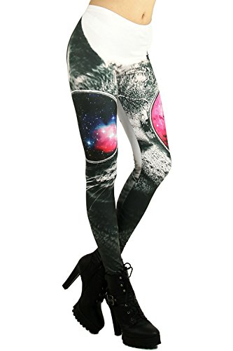 World of Leggings Cosmic Cool Sunglasses Cat Leggings