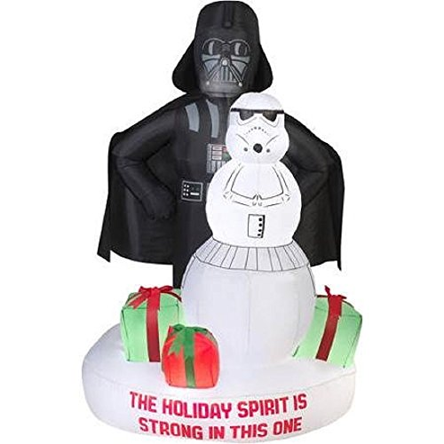 gemmy star wars darth vader stormtrooper christmas airblown inflatable - Star Wars Blow Up Christmas Decorations