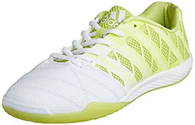 adidas FreeFootball Top Sala Indoor Soccer Shoes (White/Glow) 9.5