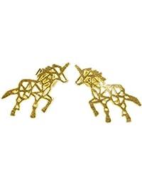 Gold Animal Stud Earrings for Girls and Women