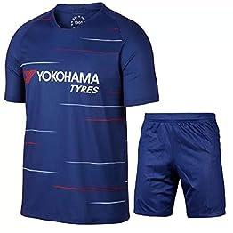 QAZW Maillot de Football Chelsea Maillot de Foot sur Mesure Ball Costume à séchage Rapide Football Coupe Maillot Football Suit Football L