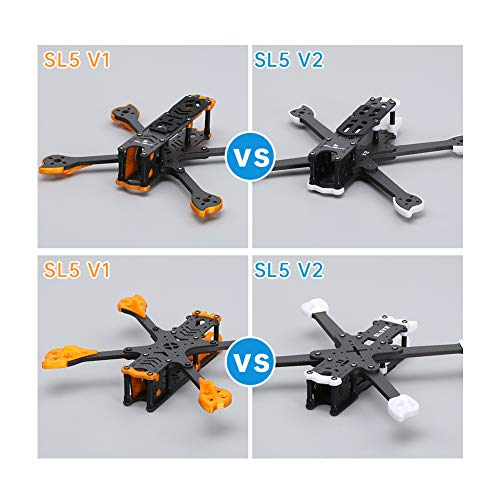 iFlight Cidora SL5 V2 5inch 223mm FPV Freestyle Frame Kit with TPU Arm Guard,Antenna Mount Protector,Motor Wire Protector,for Caddx Vista HD System