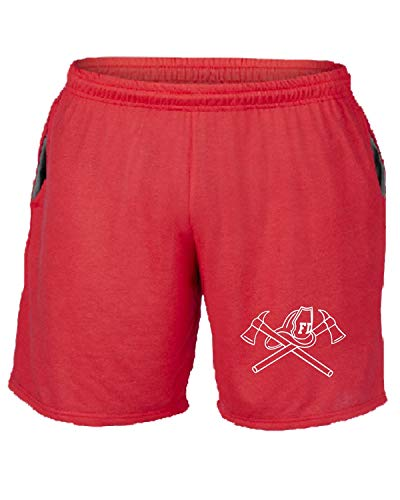 Tuta Pantaloncini Fire Fun1430 Rosso Fighter T shirtshock xwBZv6