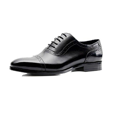 Uomo Traspiranti Scarpe Casual Inglesi Stringate Casual da NIUMJ Business Black Moda qzTaH6t