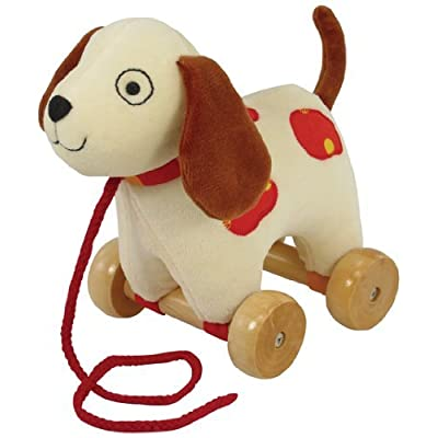 """Rich Frog Classic Puppy Pull Toy, 8"""": Toys & Games"""