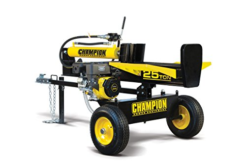 Log Splitter - Champion 25-Ton Horizontal/Vertical Full Beam Gas Log Splitter with Auto Return