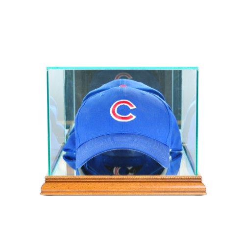(Perfect Cases MLB Cap/Hat Glass Display Case, Walnut)