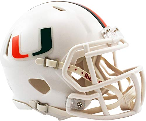 Sports Memorabilia Riddell Miami Hurricanes Speed Mini Football Helmet - College Mini -