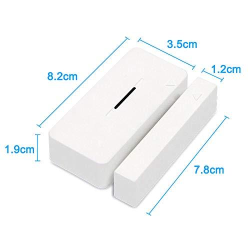 KAIPULEK Wireless Z-Wave Plus Door/Window Sensor - Compatible with 500  Series - White