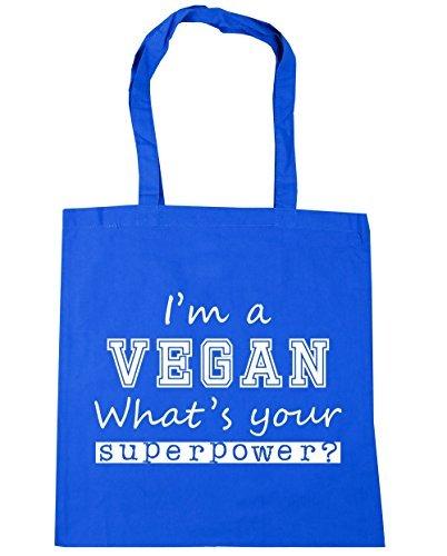 Tote Your I'm x38cm Gym Superpower Cornflower A 10 Beach HippoWarehouse Shopping What's Blue Bag litres 42cm Vegan xIFwY77dq