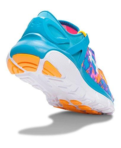 889362249131 - Kids Under Armour Speedform Fortis Atom Grade School, Bold Aqua/Pink, 3.5 Big Kid M carousel main 2