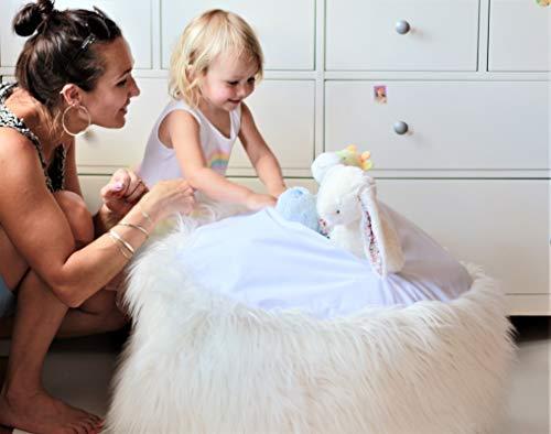 MiniOwls Toy Storage Solution. Furry Bean Bag Plush