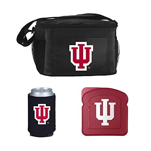 Lunch Box Indiana Hoosiers - NCAA Indiana Lunch Cooler Set | Indiana Hoosiers Cooler, Sandwich Container & Pocket Koozie