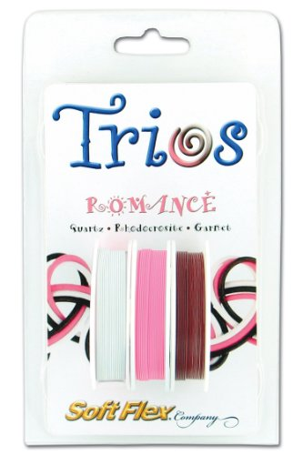 (Soft Flex Trio Bead Wire, Romance, 0.019 Inch, 10 Feet, Pack of 3 |)